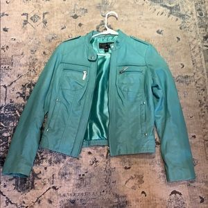 Green Bernardo real leather jacket